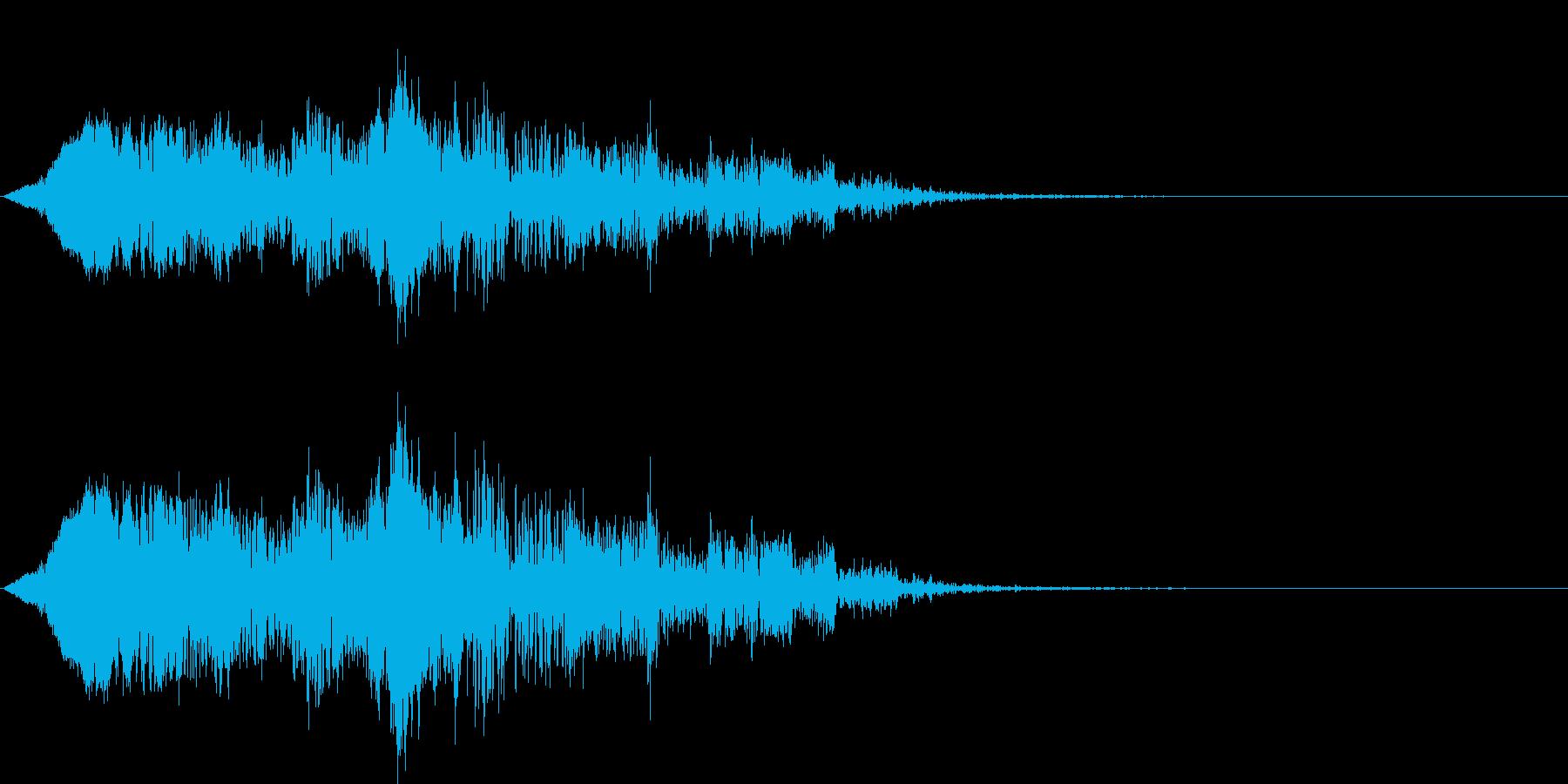 這いずる・触手を動かす音の再生済みの波形