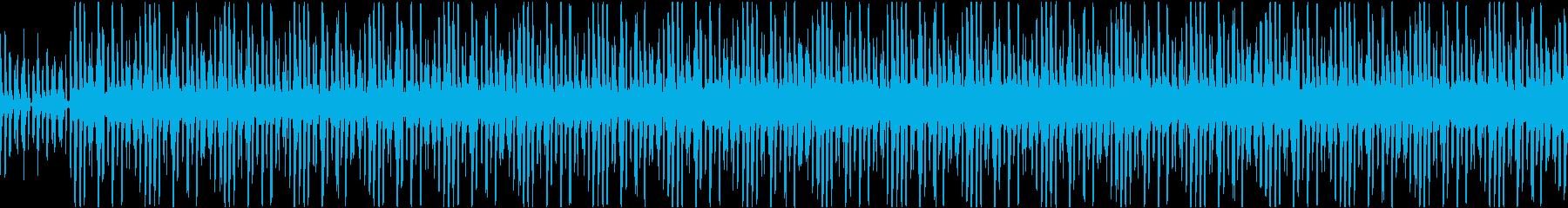 ゲームのメニュー画面等 シンプルなループの再生済みの波形