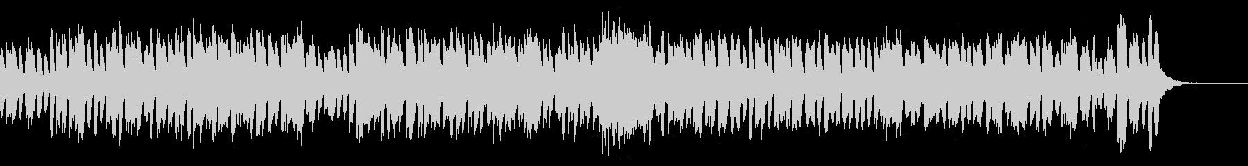 旋律が絡み合うピアノ曲の未再生の波形