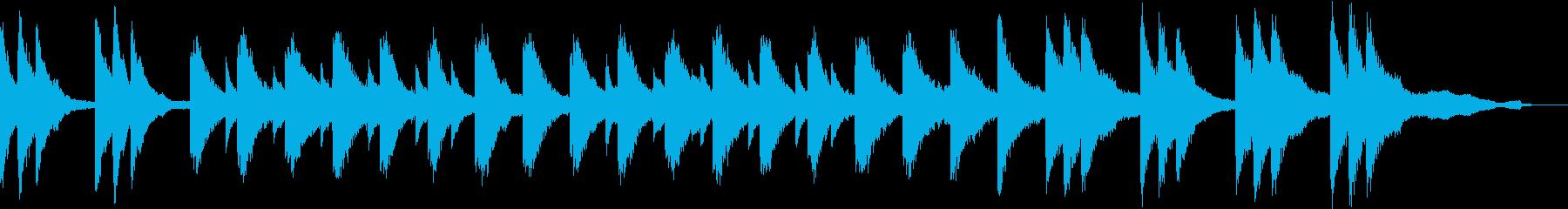 静かな深夜をイメージしたピアノソロの再生済みの波形