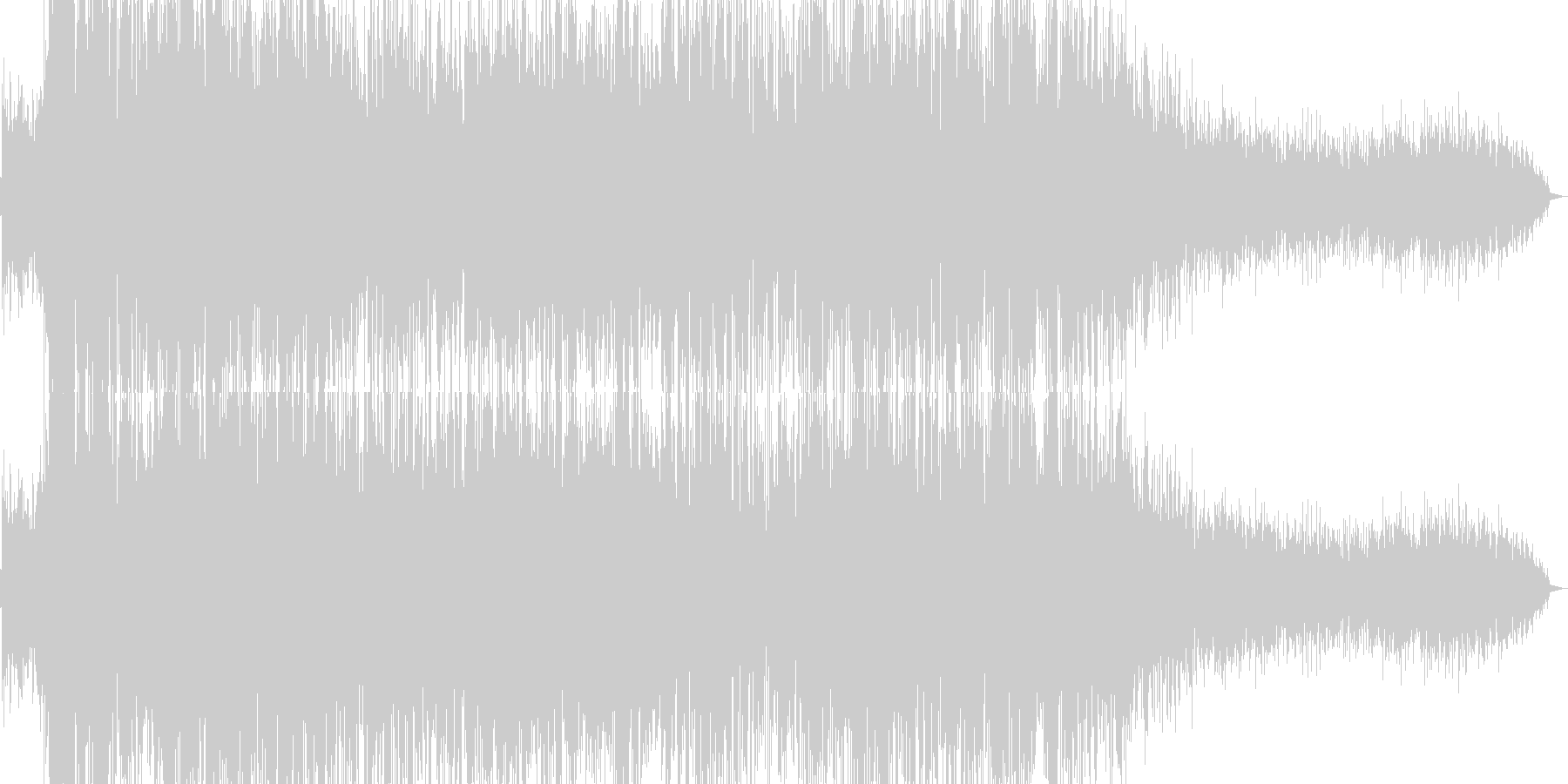 爆発/落雷から電気が迸るイメージの音の未再生の波形