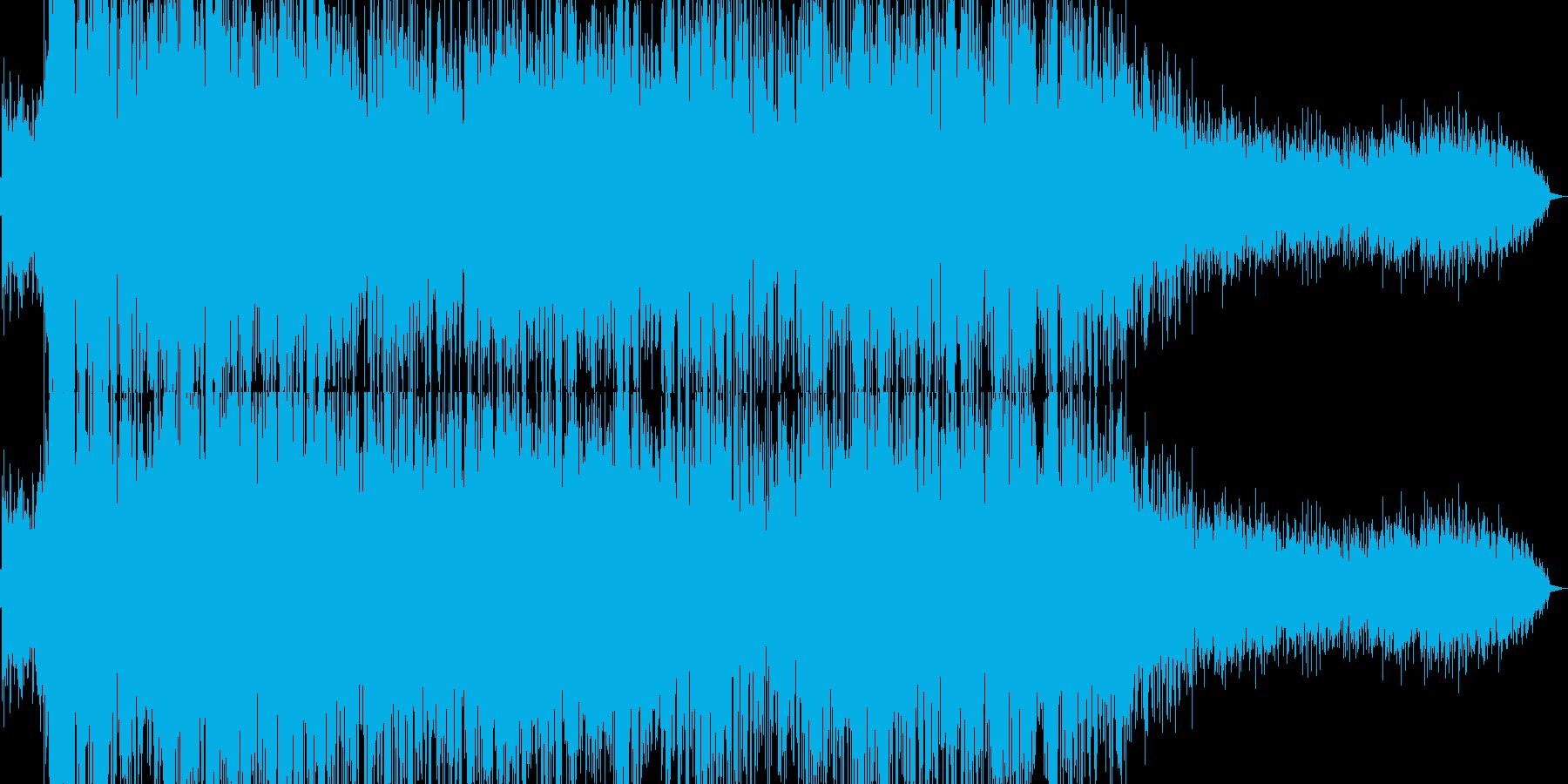爆発/落雷から電気が迸るイメージの音の再生済みの波形