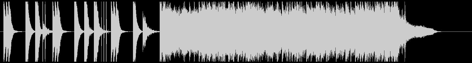 ファッショナブルなCM音楽の未再生の波形