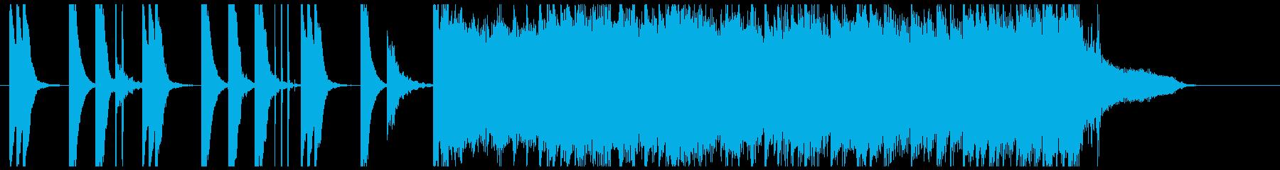 ファッショナブルなCM音楽の再生済みの波形