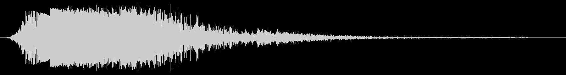 ピアスメタルスナップとデブリ、フォリーの未再生の波形