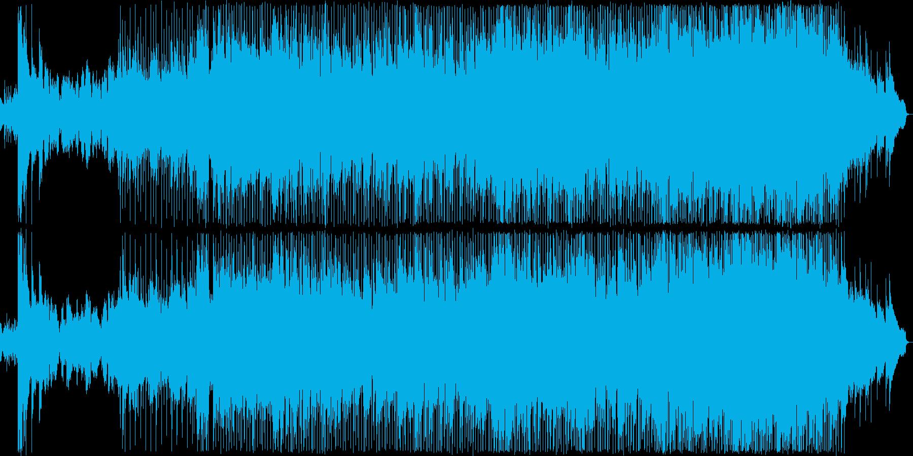 暖かい雰囲気のバラードの再生済みの波形