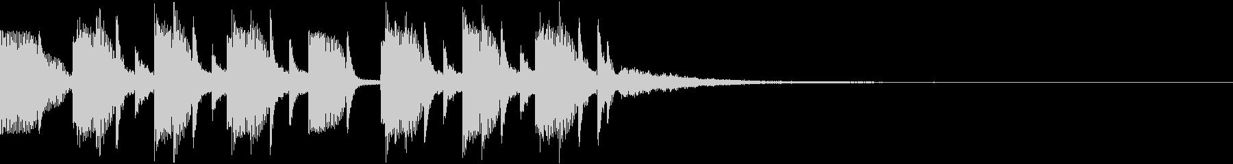 キャッチーノリノリEDMジングルの未再生の波形