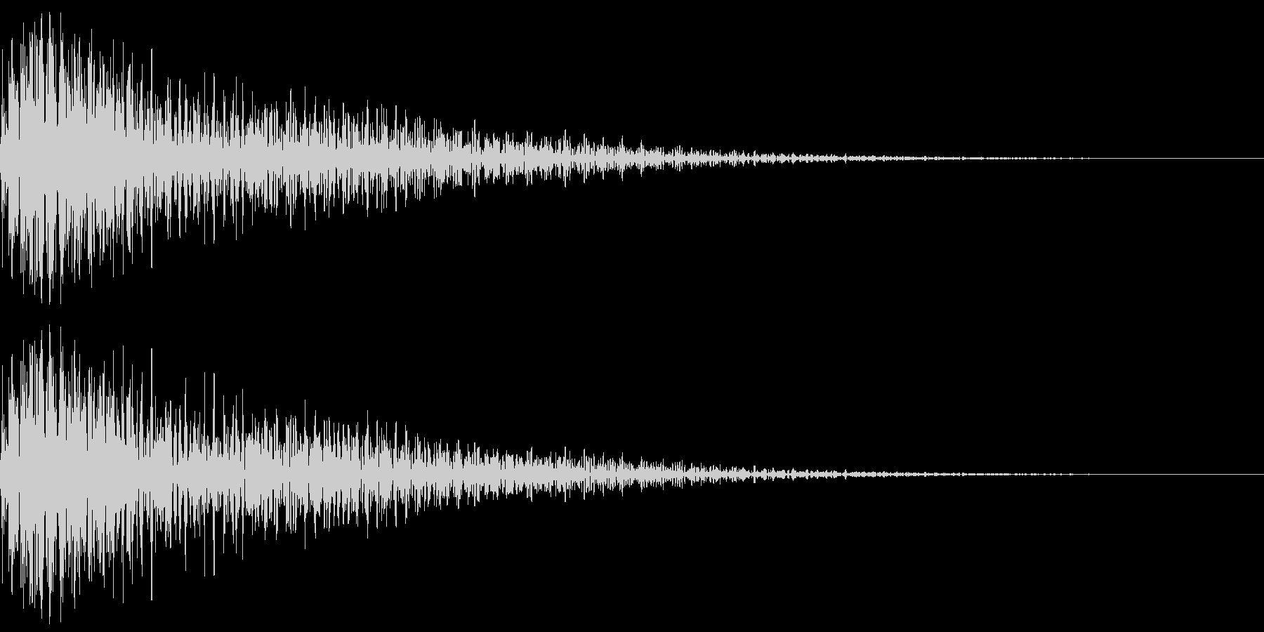 明るく厚みのあるボタン音(ジャン)の未再生の波形