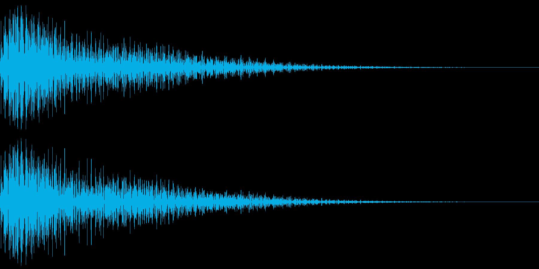 明るく厚みのあるボタン音(ジャン)の再生済みの波形