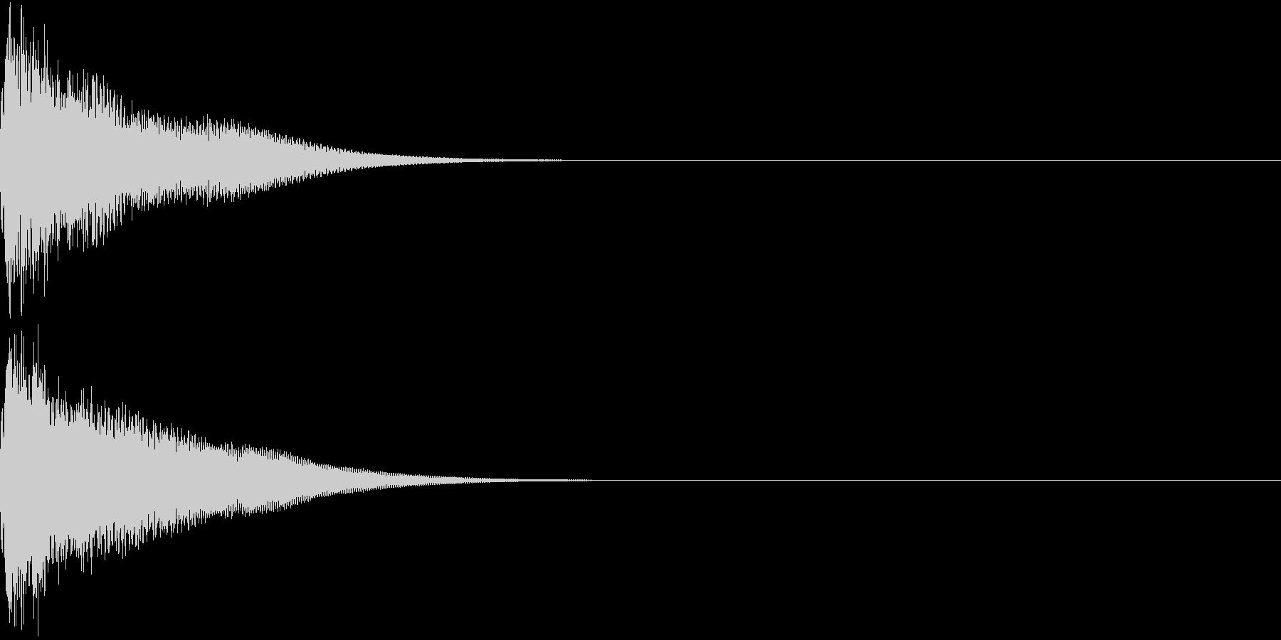 光る  輝く  キュピーン  キラーンDの未再生の波形