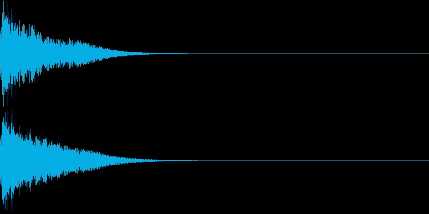 光る  輝く  キュピーン  キラーンDの再生済みの波形