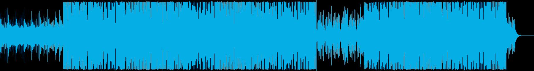 高い雪山をイメージした躍動感のあるBGMの再生済みの波形