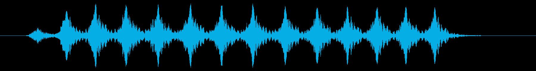 こおろぎの鳴き声_その1の再生済みの波形