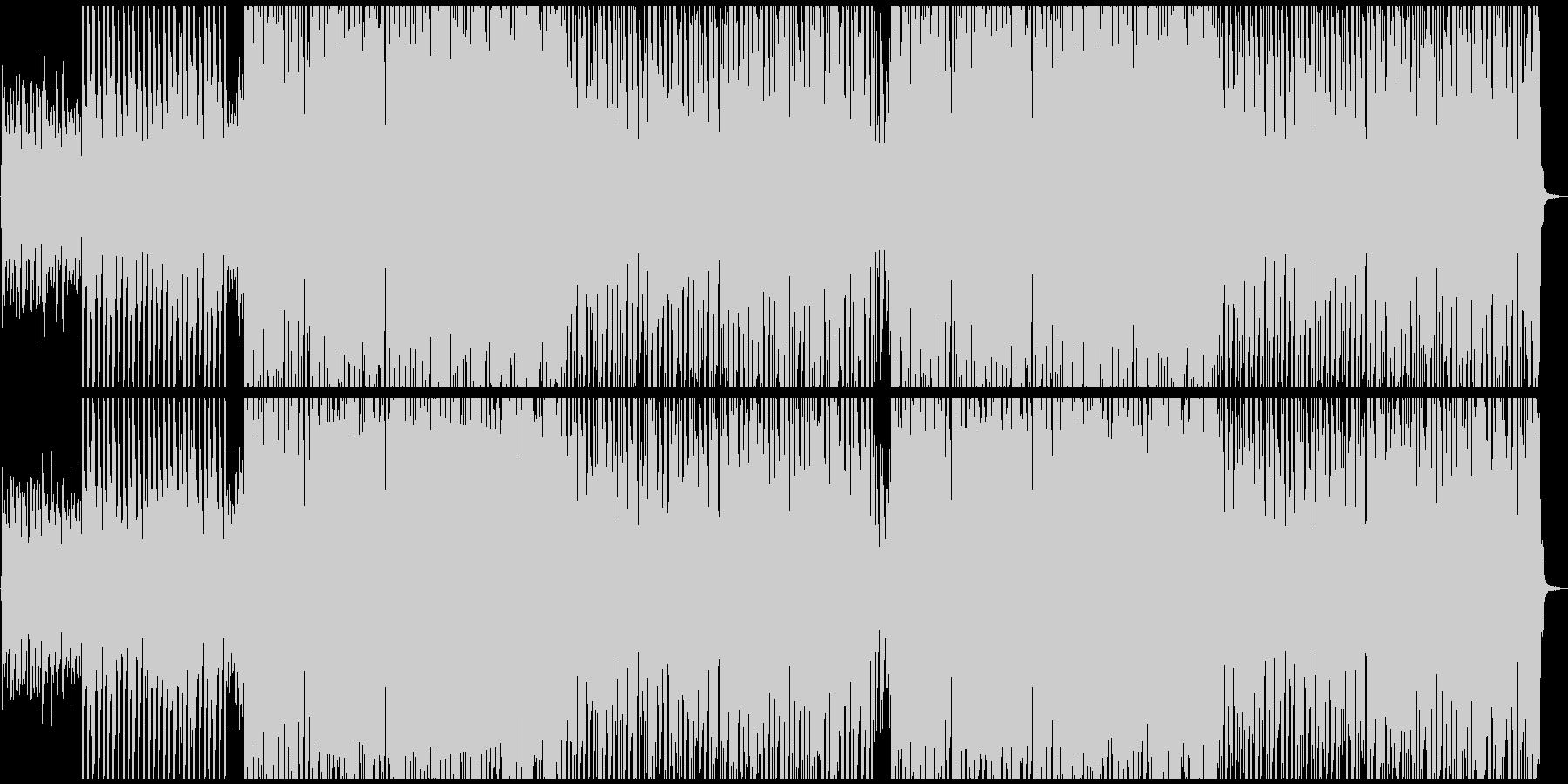 キャッチーなトロピカル風サマーポップスの未再生の波形