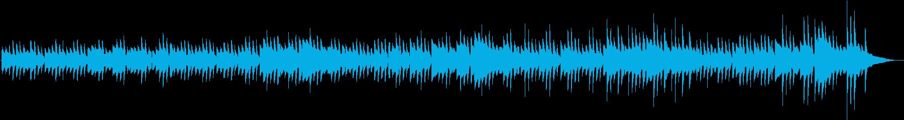 暖かくて静かなピアノ曲の再生済みの波形