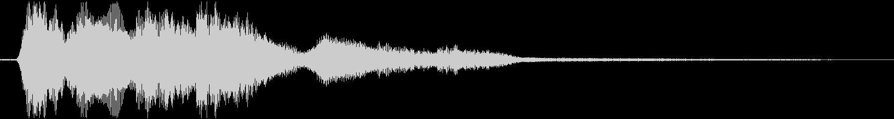 決定音(太い電子音)の未再生の波形