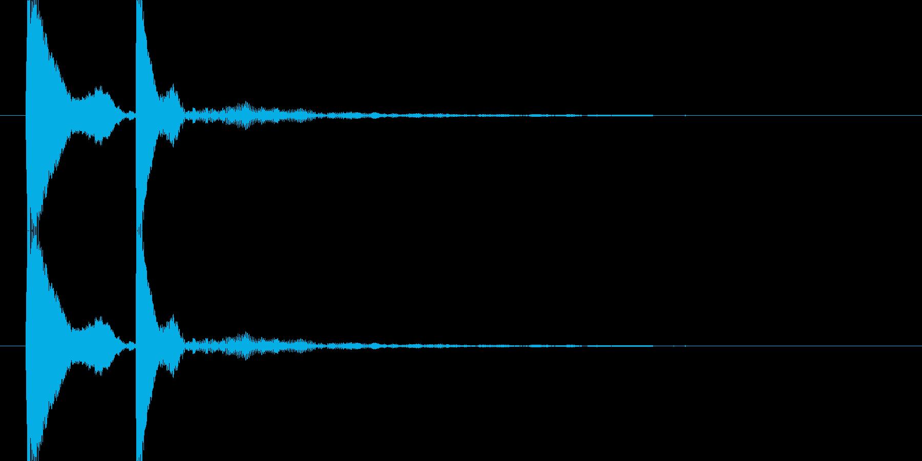 コテ(コテン)汎用的なタッチ音(高音)の再生済みの波形