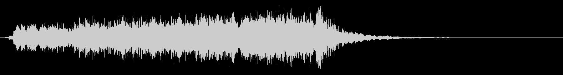 『ヒュードロドロ』篠笛と太鼓の効果音の未再生の波形