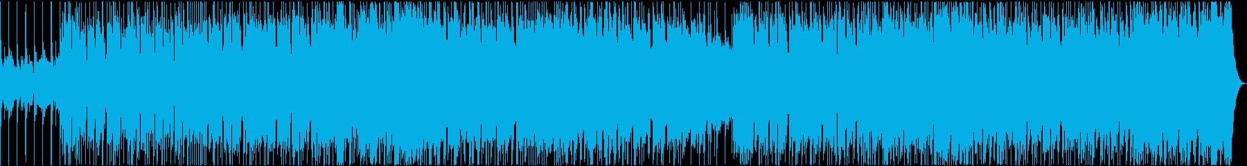 ギターのリフが入った王道のロックサウンドの再生済みの波形