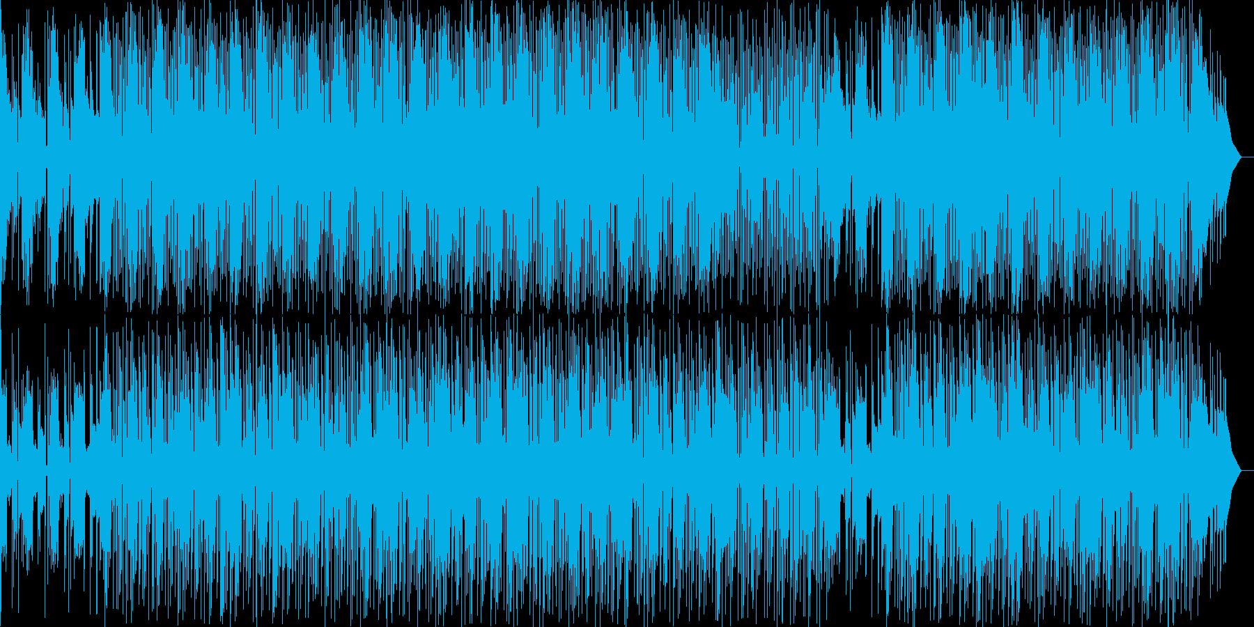 近未来感あるビートの効いたお洒落なBGMの再生済みの波形