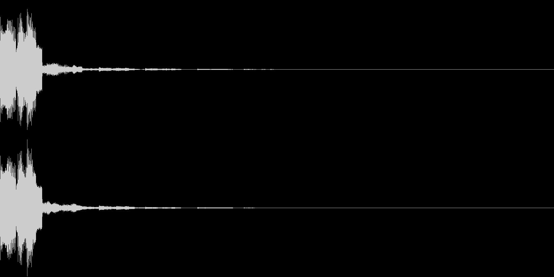 クリック キラリン 正解 決定 17の未再生の波形