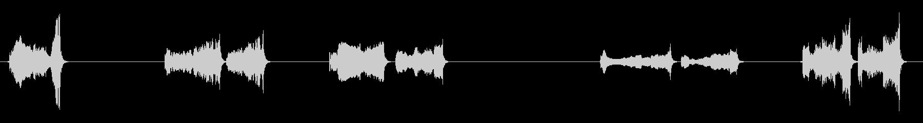 いくつかの孤立したハヤブサの鳴き声の未再生の波形