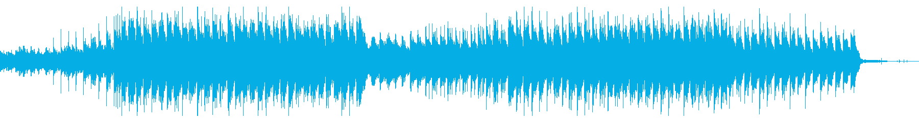 Chillっぽく落ち着いたBGMの再生済みの波形