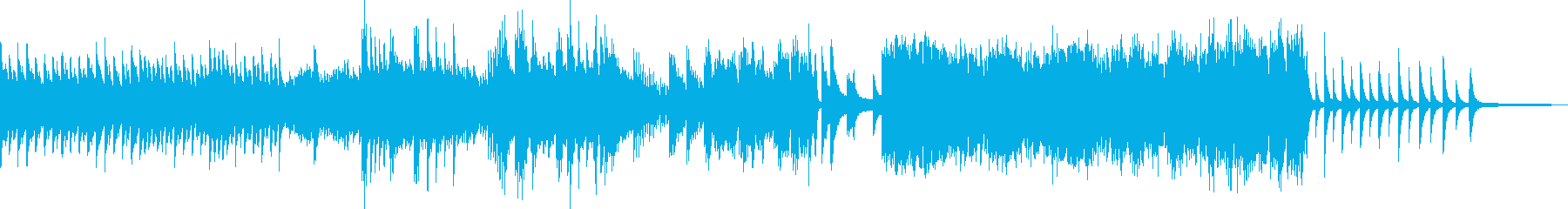 夜空・流れ星をイメージしたピアノソロの再生済みの波形