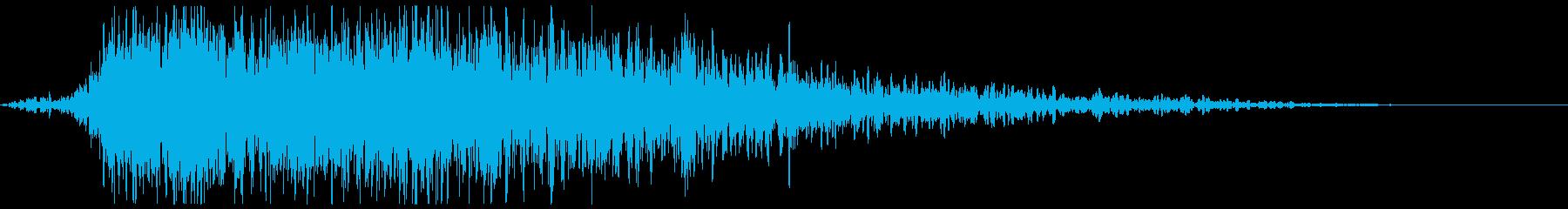 大爆発と爆弾の再生済みの波形