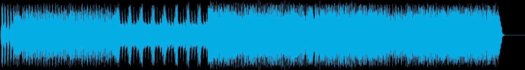 ギターフレーズが炸裂するハード&ヘヴィーの再生済みの波形
