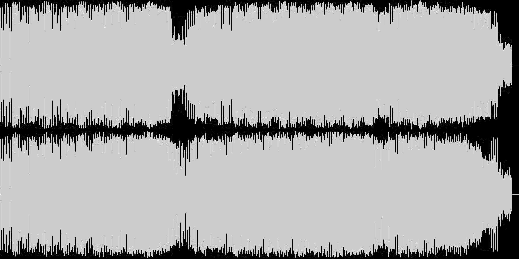 シンプルなドラムとベース、ディープハウスの未再生の波形