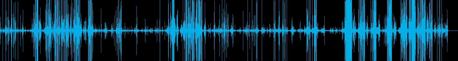 スライムを潰すパチパチという音の再生済みの波形