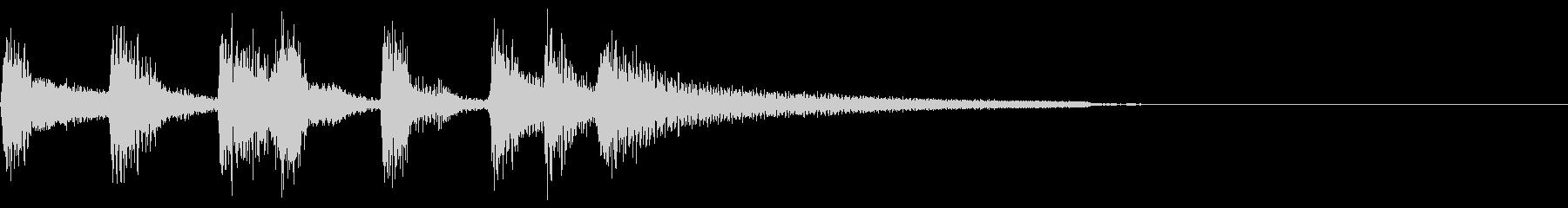 ボサノヴァのギターによるサウンドロゴの未再生の波形