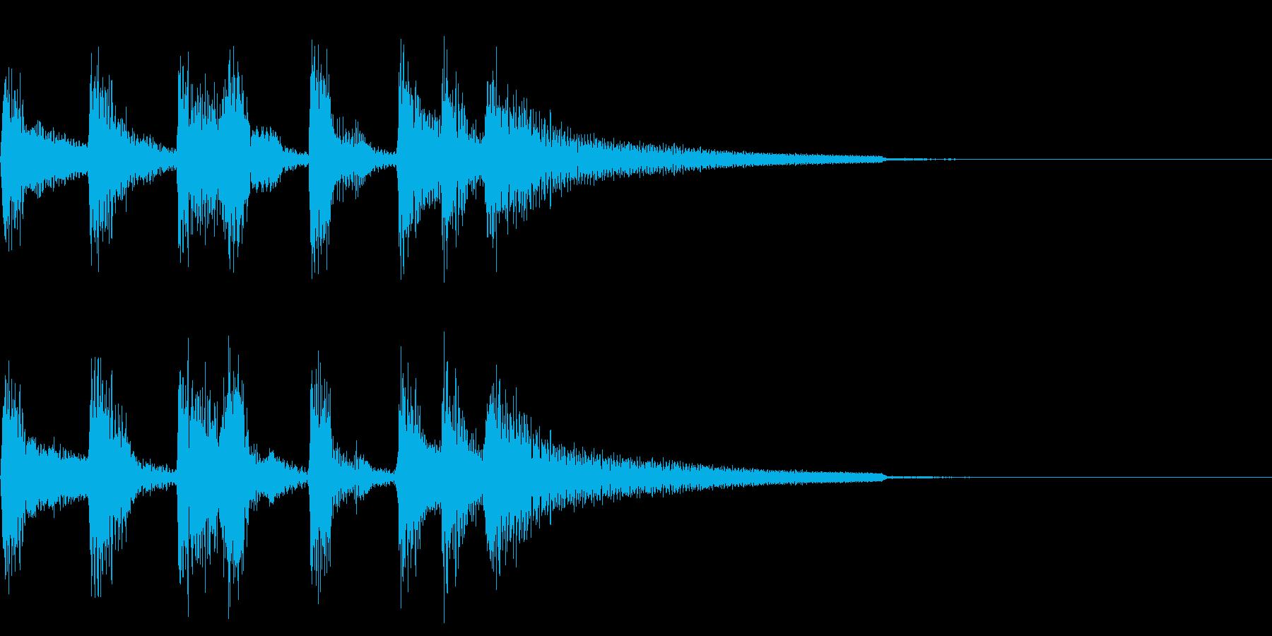 ボサノヴァのギターによるサウンドロゴの再生済みの波形