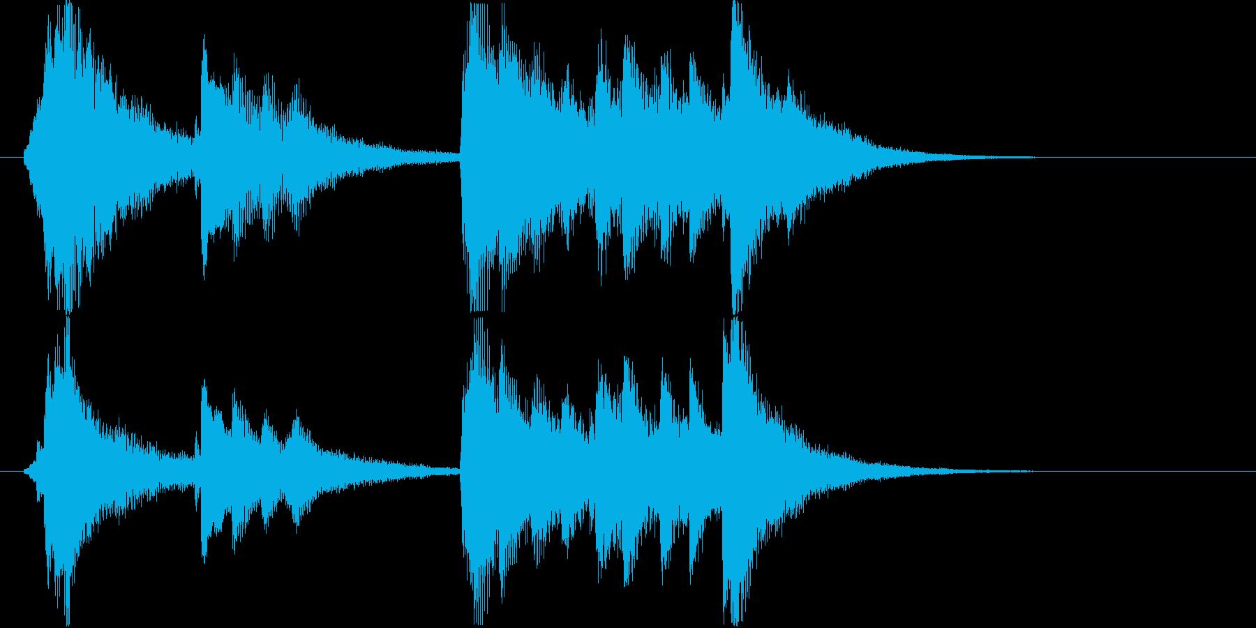 琴の和風ジングルの再生済みの波形