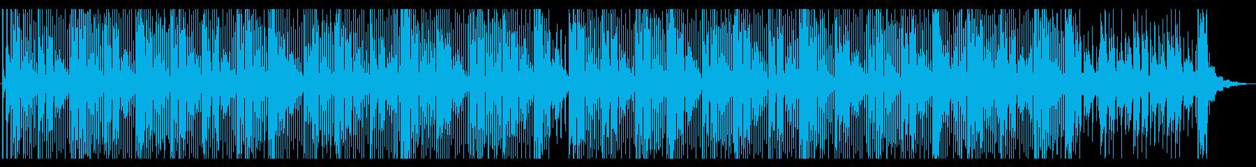 スチールドラムとシンセの、優しいダブの再生済みの波形