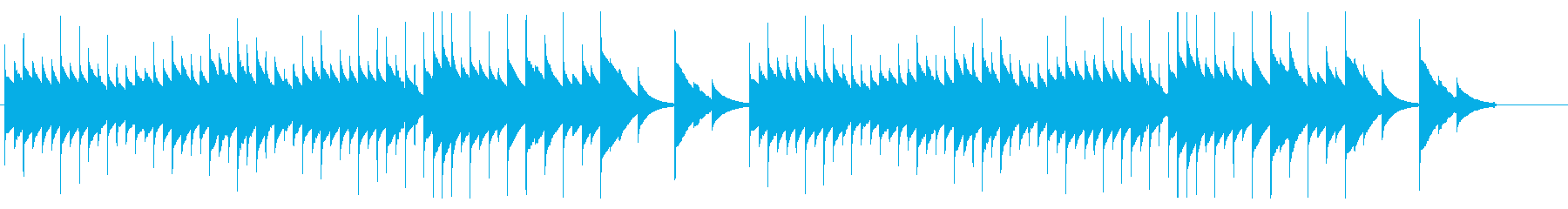 【オルゴール】思い出・感動・優しいの再生済みの波形