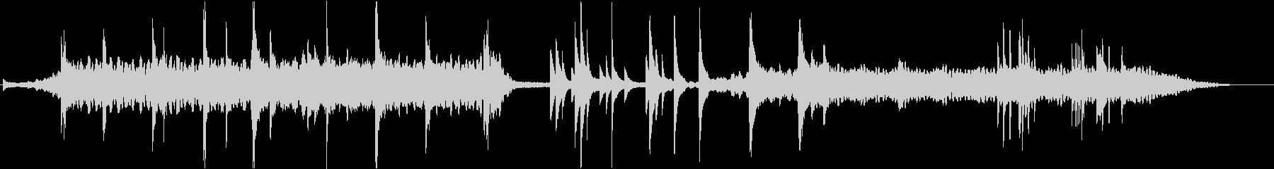 抽象的でダークなピアノの即興の未再生の波形