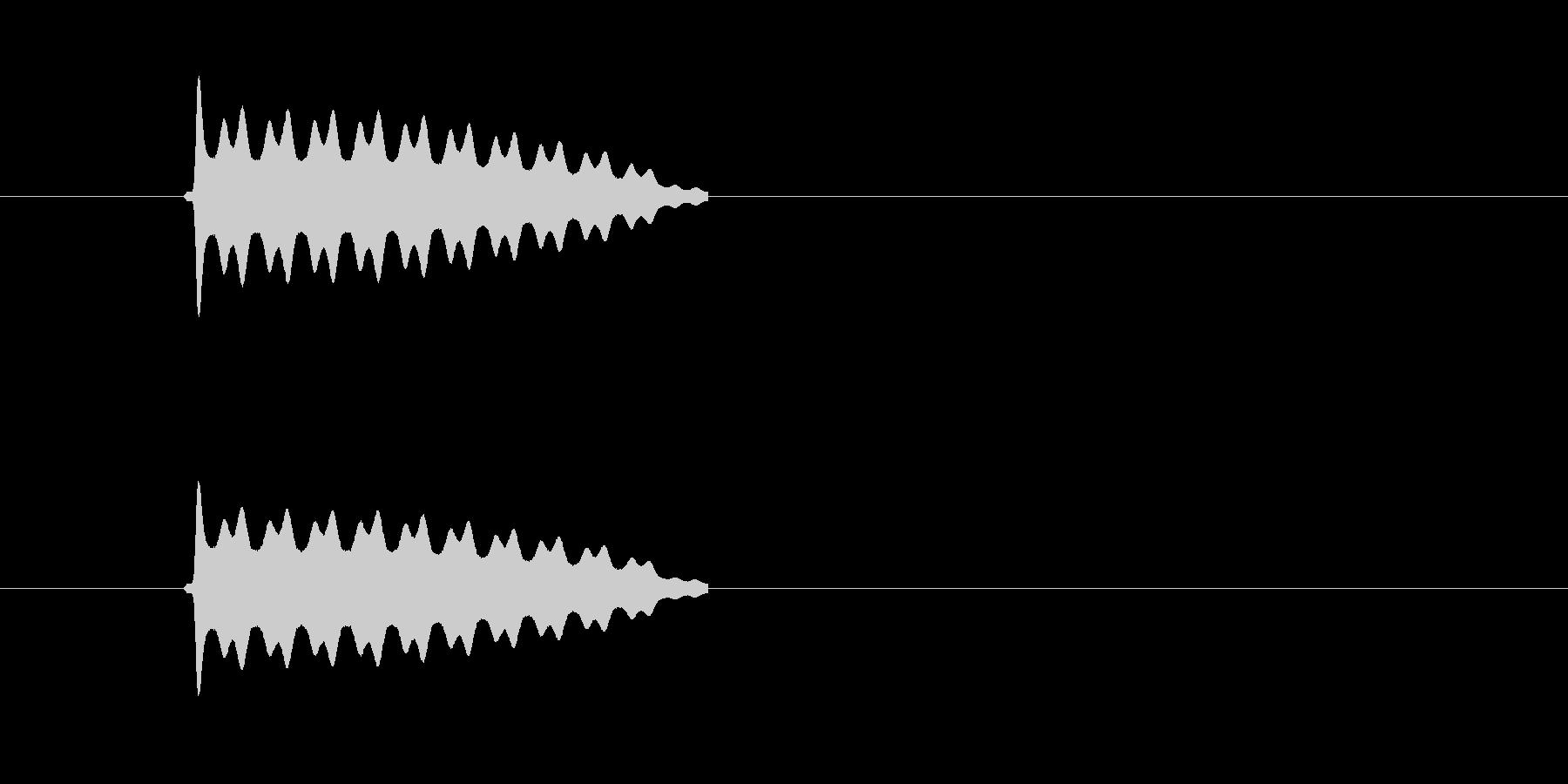 ピピピピピ!高音で響く電子音の未再生の波形