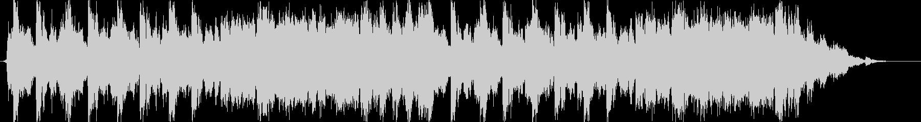 ゲーム等のタイトル画面に合うマーチ風音楽の未再生の波形