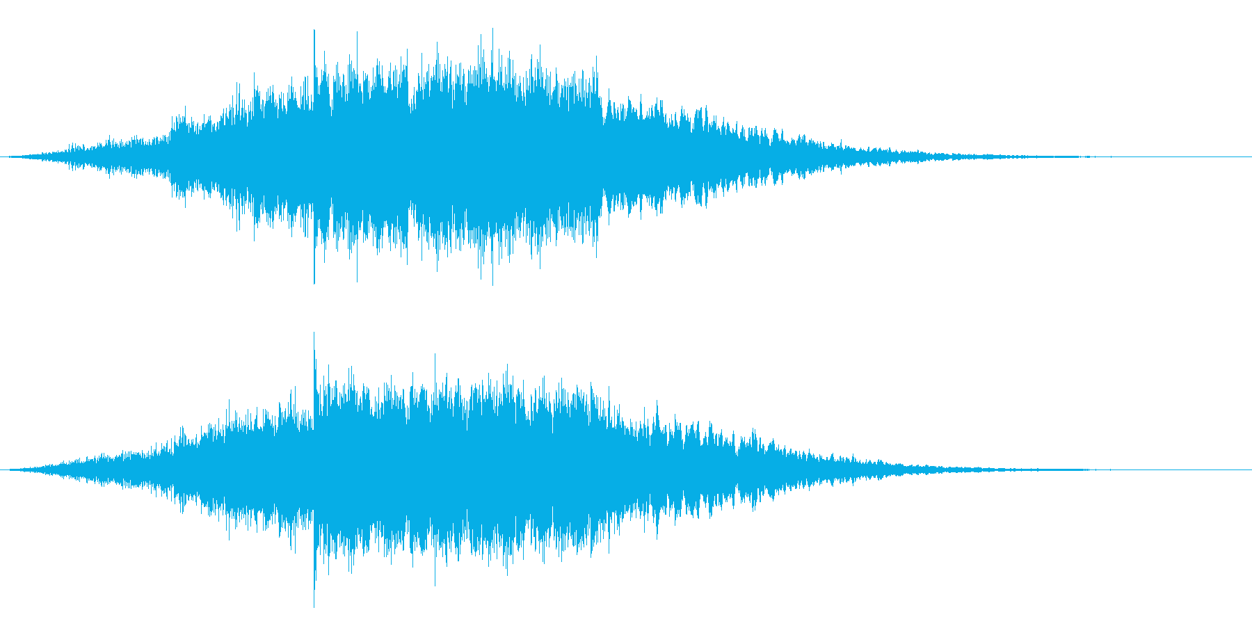 ゲーム、アプリ、サウンドロゴにキラキラ音の再生済みの波形
