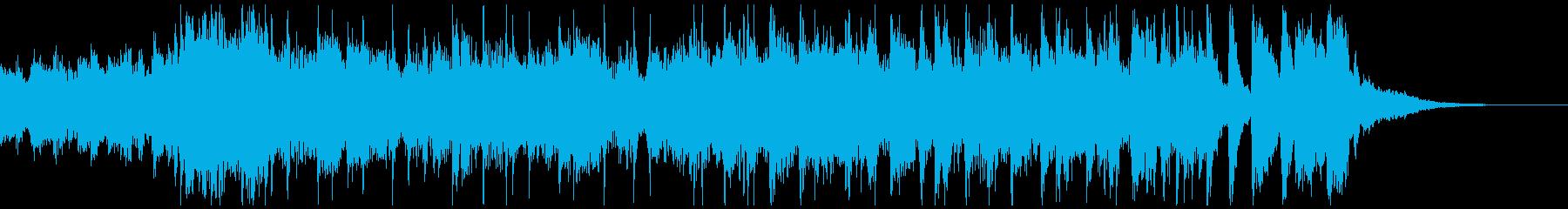 疾走感のあるファンキーなジングル1の再生済みの波形
