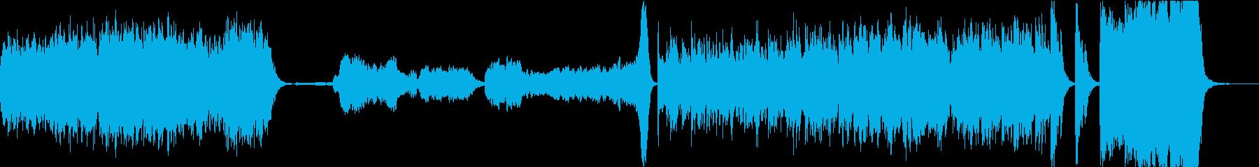風来坊をイメージした活気あるオーケストラの再生済みの波形