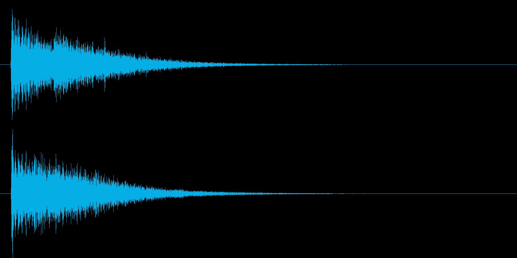 ピューーン(機械的なビーム音)の再生済みの波形