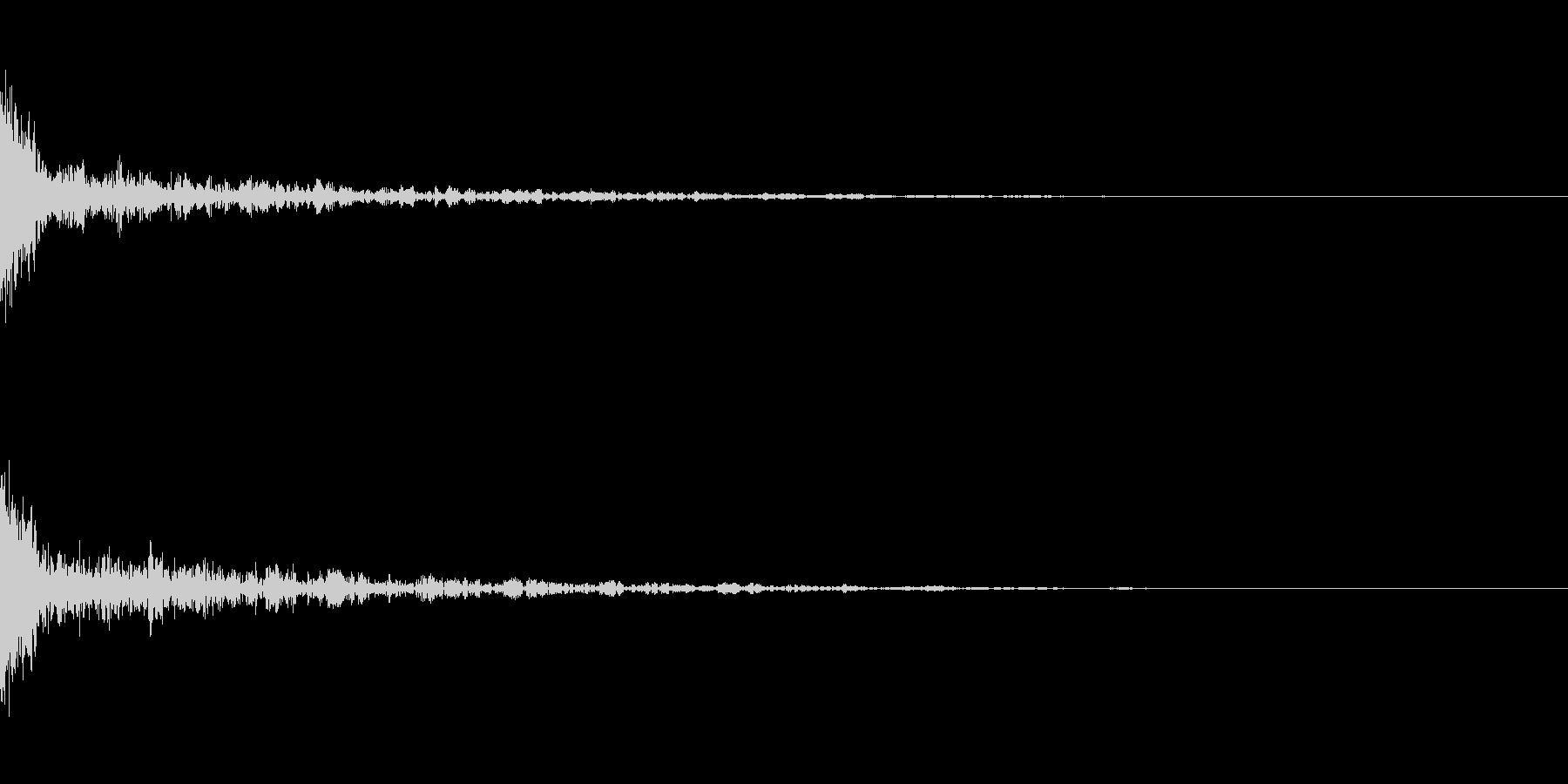ドーン-43-1(インパクト音)の未再生の波形