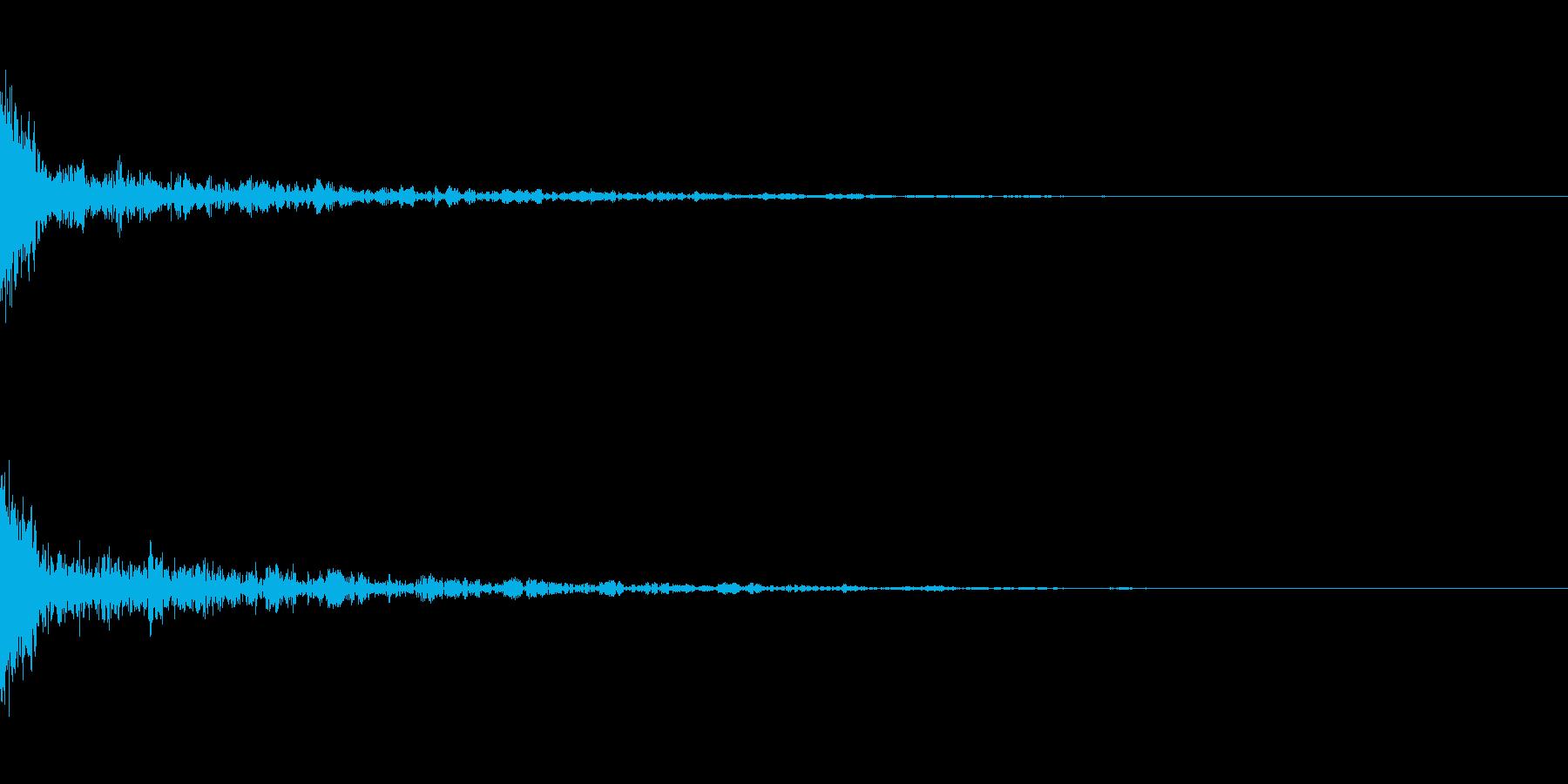 ドーン-43-1(インパクト音)の再生済みの波形