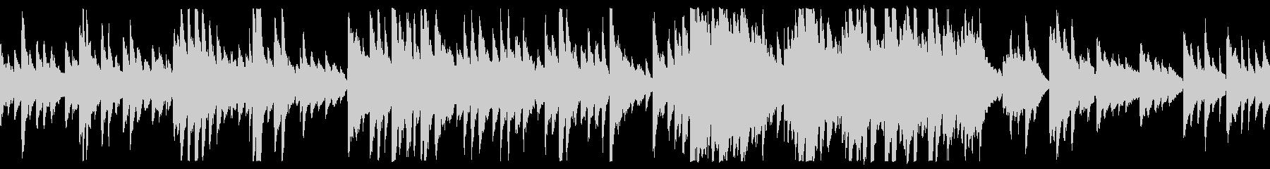 暖かい優しいスローピアノバラード(ループの未再生の波形