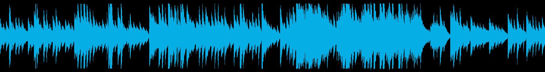 暖かい優しいスローピアノバラード(ループの再生済みの波形