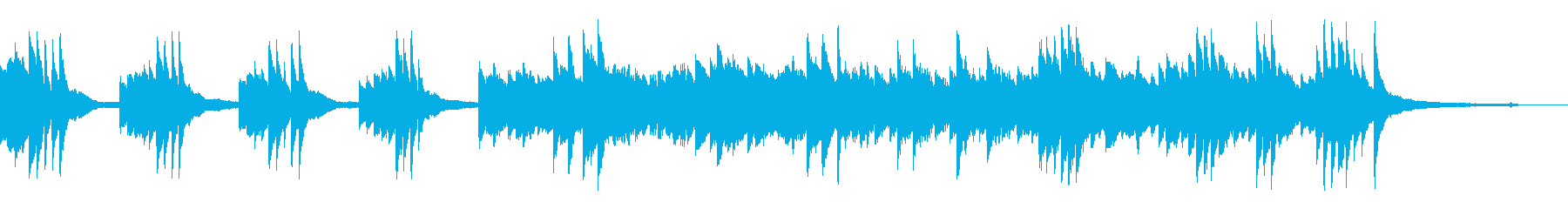 不穏な雰囲気のピアノ(暗い)の再生済みの波形