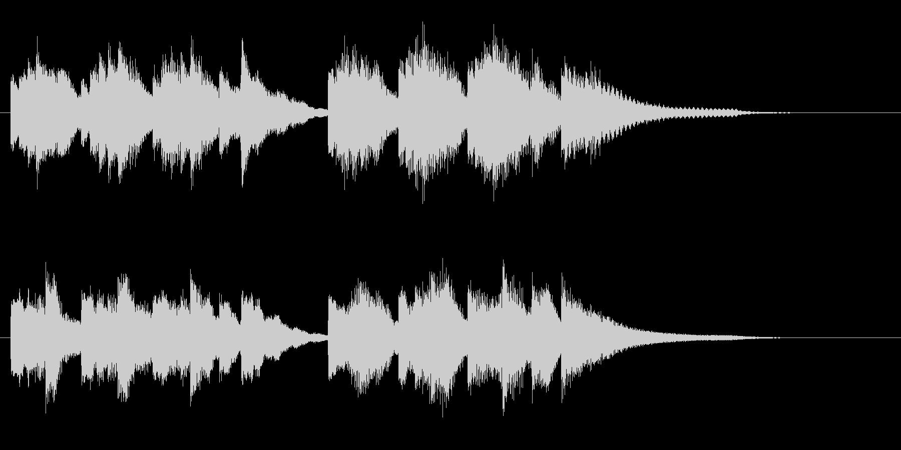 ゆったりとした癒しのピアノソロジングルの未再生の波形